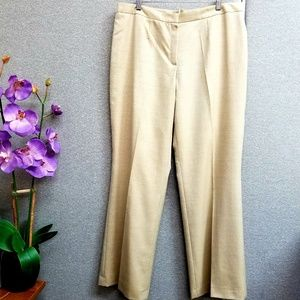 ESCADA wool and silk blend light gold pants